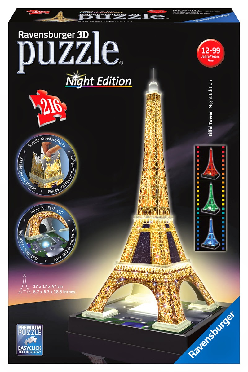 Ravensburger Puzzle Club Eiffel Tower With Lights 3d Puzzle