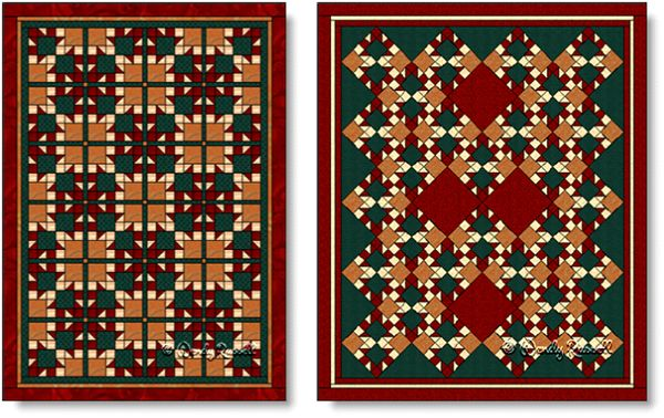 Quilts designed using the ARROWS quilt block - images © Wendy Russell