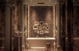 ديكورات حمام الضيوف غاية في الأناقة والجمال
