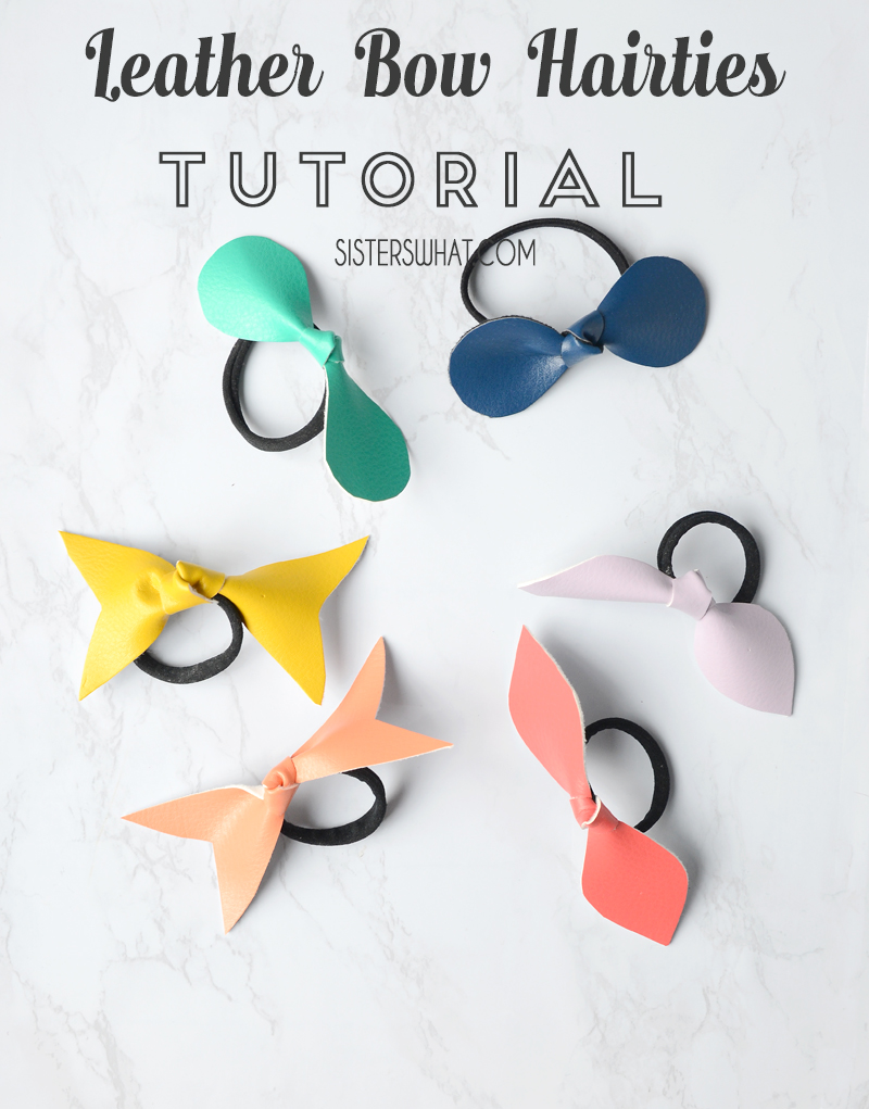 leather bow hair ties tutorial