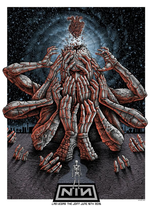 INSIDE THE ROCK POSTER FRAME BLOG: Nine Inch Nails Las Vegas Print ...