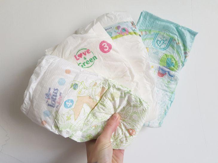 [Mignon Vert] 4 pcs Taille Haute Bébé Swim Diaper Piscine