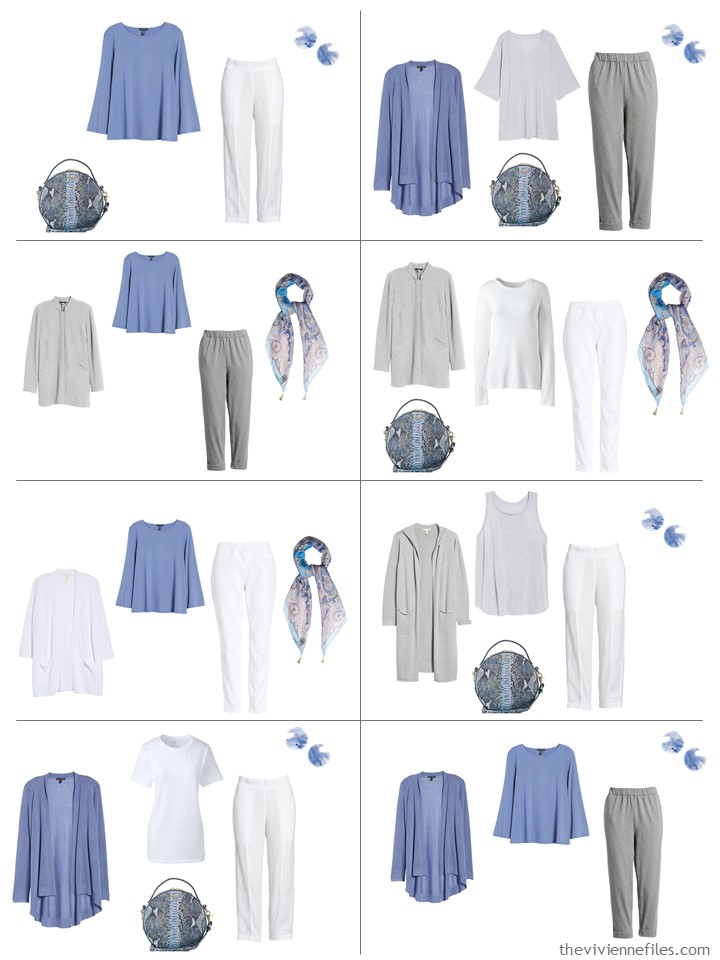 Periwinkle A French 5 Piece Wardrobe With Grey And White