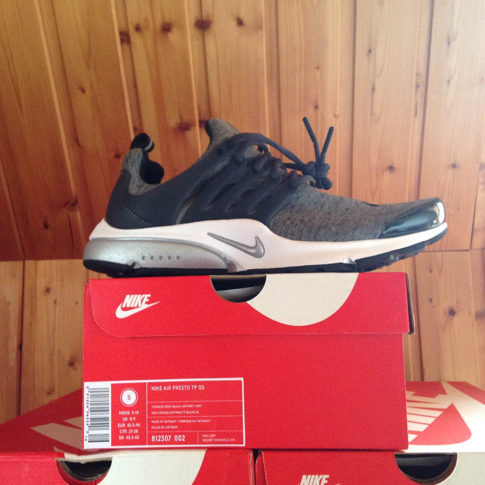 985bdef3df3b recordselling  Nike Air Presto TP QS Fleece Tech Pack Grey (812307-002) OG  new w  box deadstock