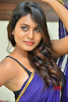 Actress Priya in Blue Saree and Sleevelss Choli at Javed Habib Salon launch ~  Exclusive Galleries 047.jpg