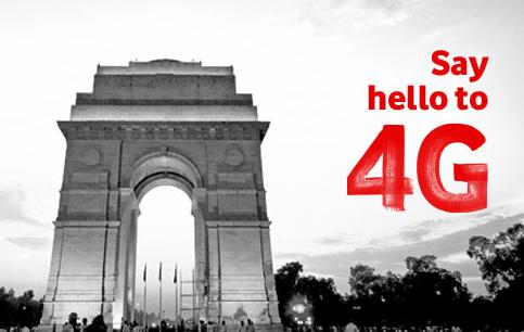 Vodafone 4G now in Delhi