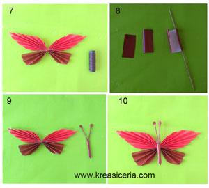 Tutorial lanjutan membuat hiasan dinding kupu-kupu dari kertas