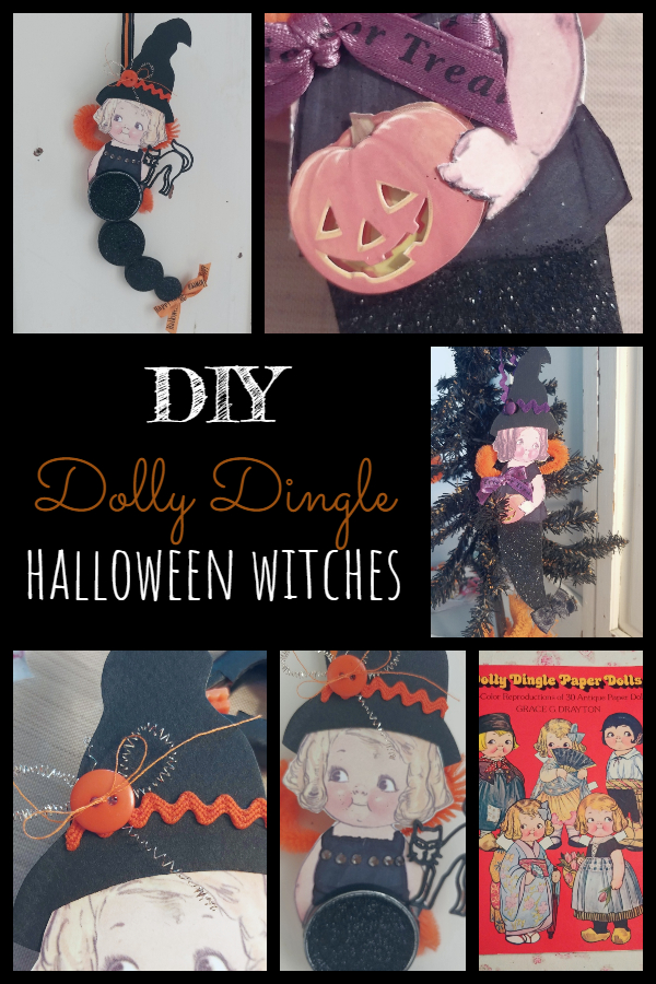 Make your own adorable little Halloween witch ornament!