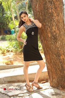Actress Poojitha Pallavi Naidu Stills in Black Short Dress at Inkenti Nuvve Cheppu Movie Platinum Disc Function  0255.JPG