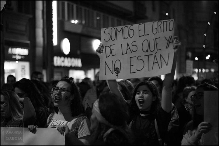 fotografia,manifestacion,8M,Murcia,feminista,retrato,grito