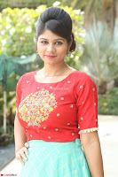 Lucky Shree Looks super cute in Bright Red Green Anarkali Dress ~  Exclusive 023.JPG