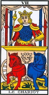 El Carro- Arcano VII- Tarot de Marsella