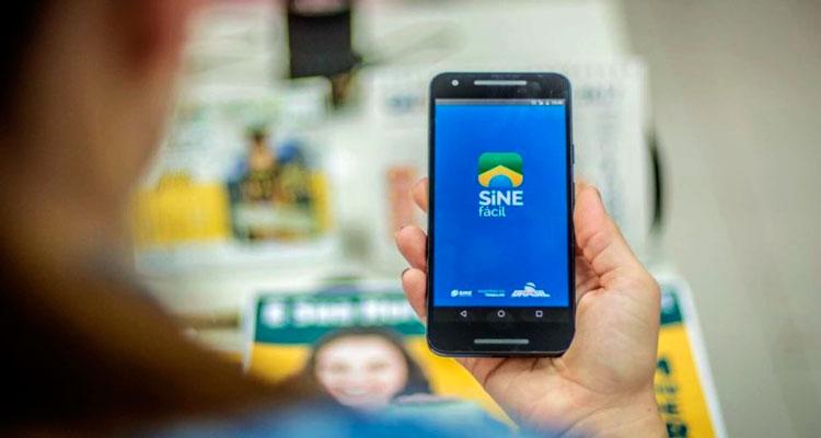 O aplicativo Sine Fácil auxiliar quem está a procura emprego Foto: Reprodução