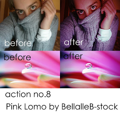 Lomo Pink Photoshop Action No 8