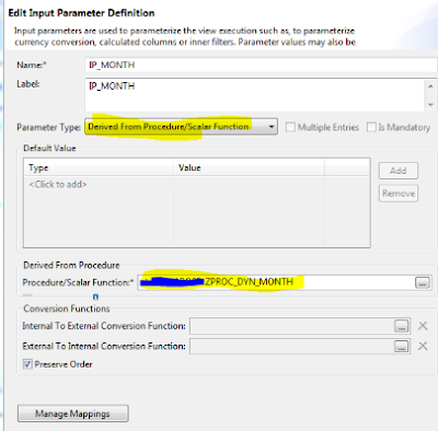 Dynamic filter / User Exit Variable for HANA Views
