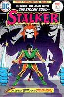 Stalker v1 #1 dc bronze age comic book cover art by Steve Ditko, Wally Wood