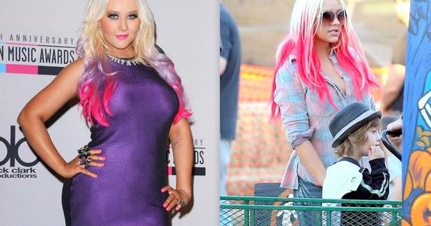e5c9e36f9db2 pin2013  Christina Aguilera Pink Hair Color for 2012