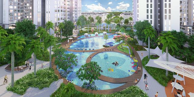 Bể bơi hiện đại bậc nhất hiện nay tại dự án Louis City