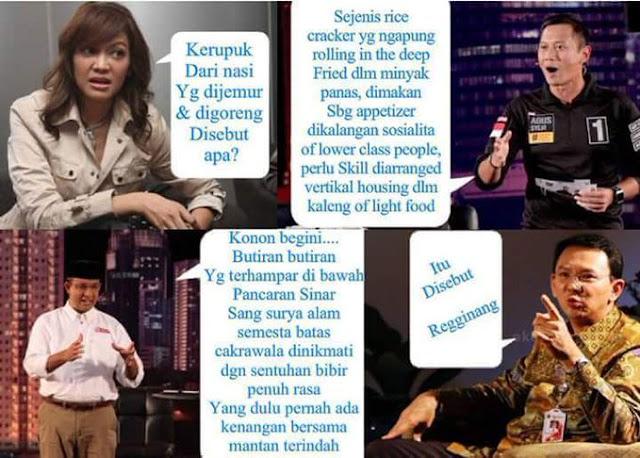 Ini Meme Lucu yang Lagi Rame, Pertanyaan Gampang Ira Koesno Jika Dijawab 3 Cagub Jakarta