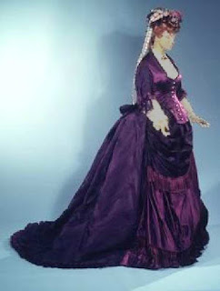 Methyl violet dye used to make a 19th century dress
