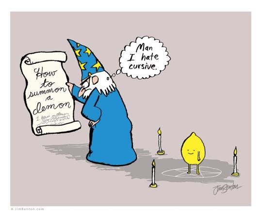 Meme de humor sobre magia y fantasía