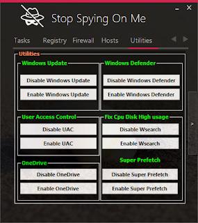 حصريا برنامج منع التجسس في الويندوز stop spying on me