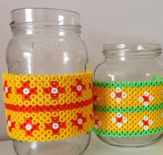 Hama bead pen holders