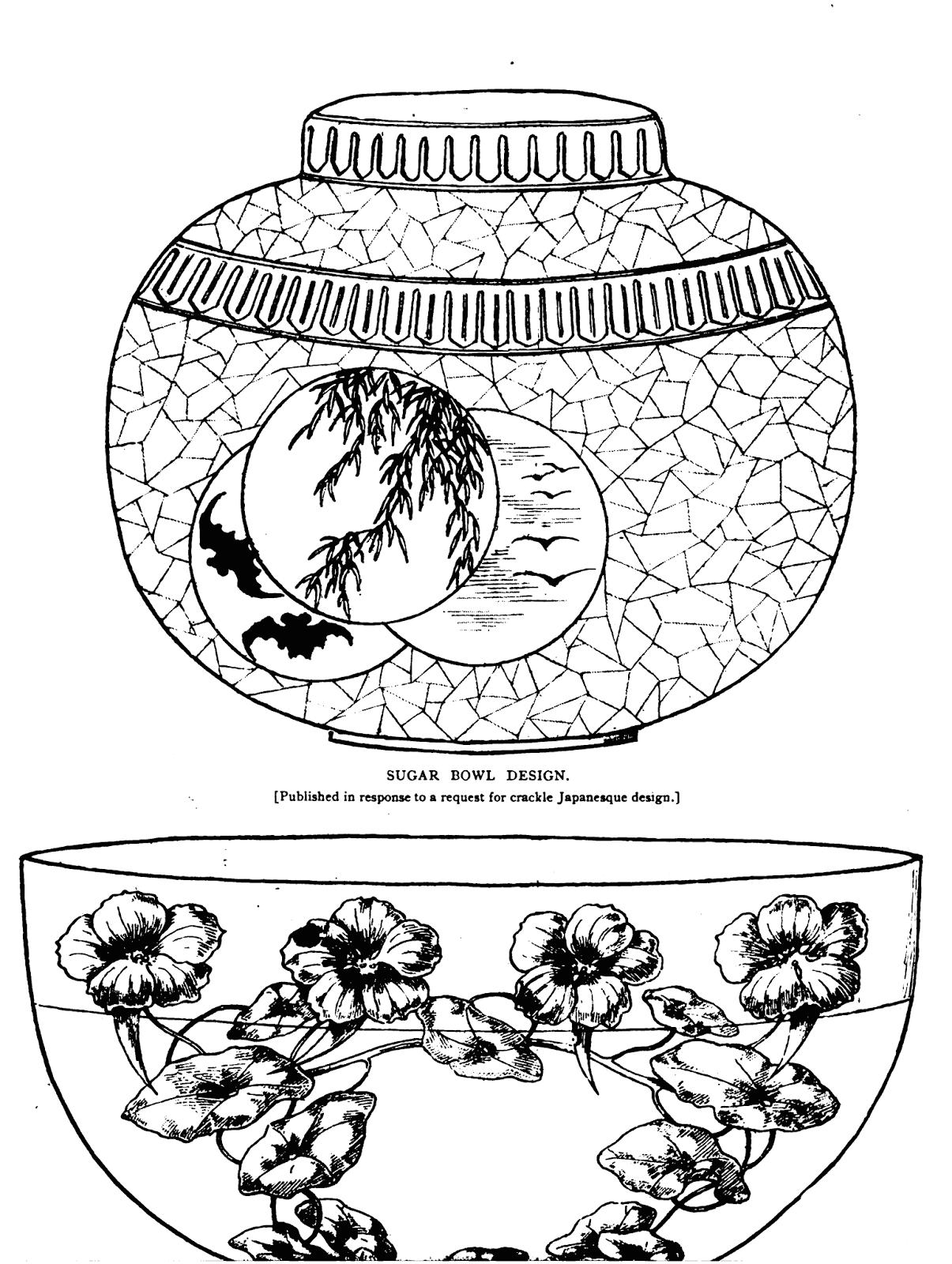 19th Century Historical Tidbits: 1885 Dish patterns