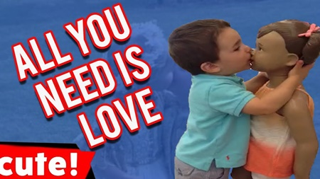 All You Need Is Love | Kids Hugging and Kissing