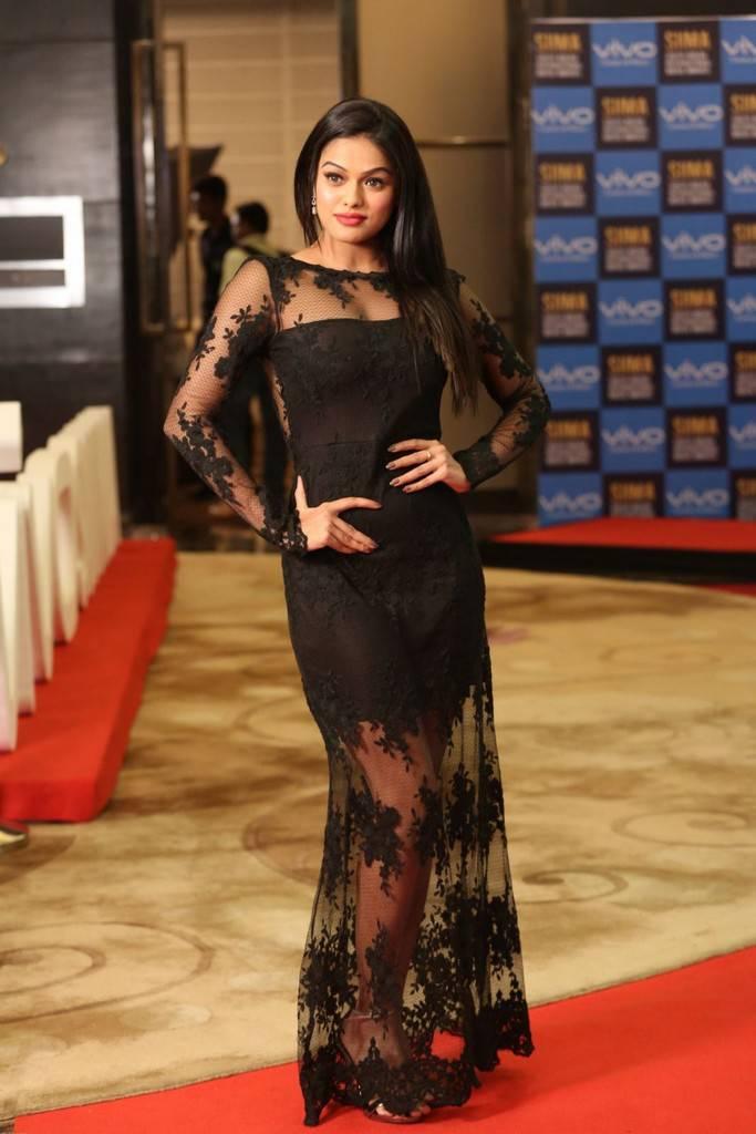 Indian Girl Sonia Stills At SIIMA Short Film Awards 2017