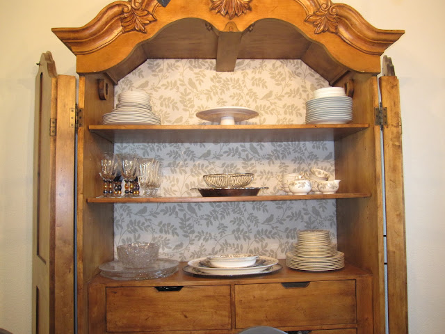 fabric backed cabinet