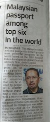 Malaysian passport is TOP 6 in the world