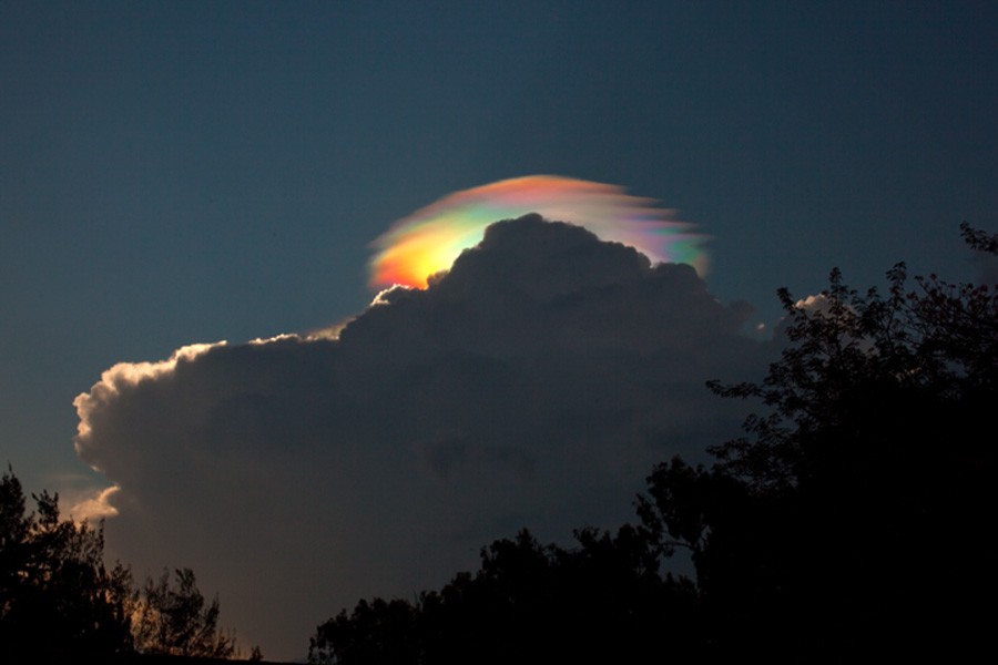 A Pileus Iridescent Cloud Over Ethiopia by Esther Havens