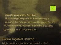 """Eigenschaft: Yogamatte """"Yoganidra"""" Die ideale Yoga- und Gymnastikmatte für Yoga-Einsteiger. Maße: 183 x 61 x 0,4cm / Bambus"""