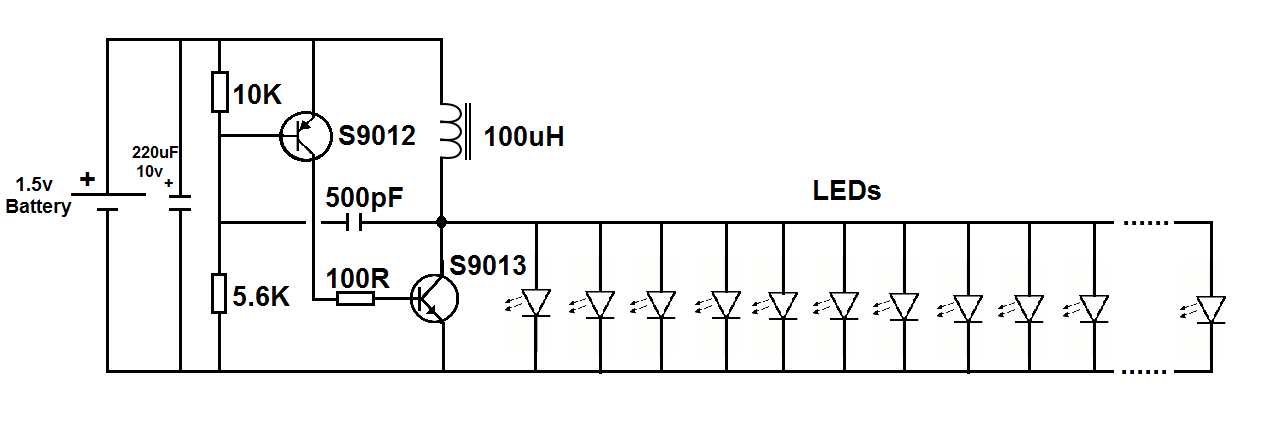 running leds from an ac supply leds