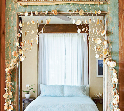 Seashell Curtain Idea Bedroom Entry