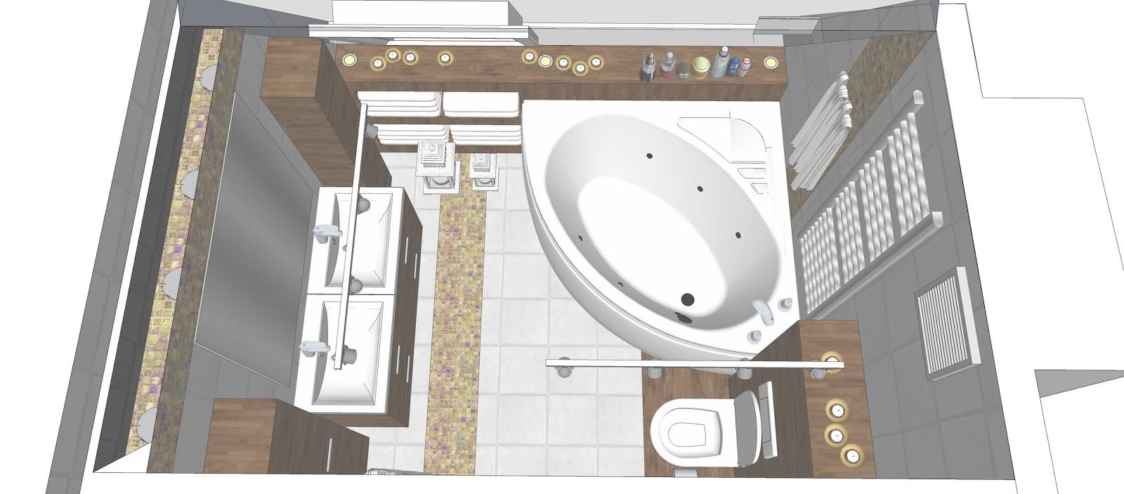 Projekt Aranżacji Dużej łazienki