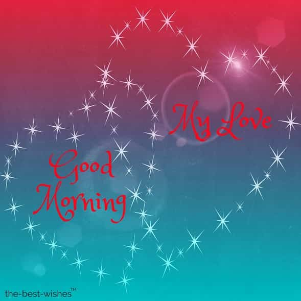 good morning my love image