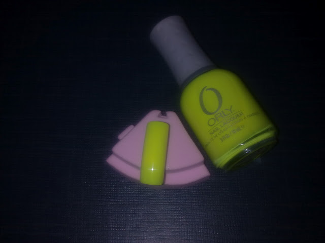 swatch colore glowstick - orly fluo feel the vibe