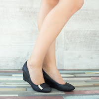 Pantofi dama Morgana negri cu talpa ortopedica • modlet