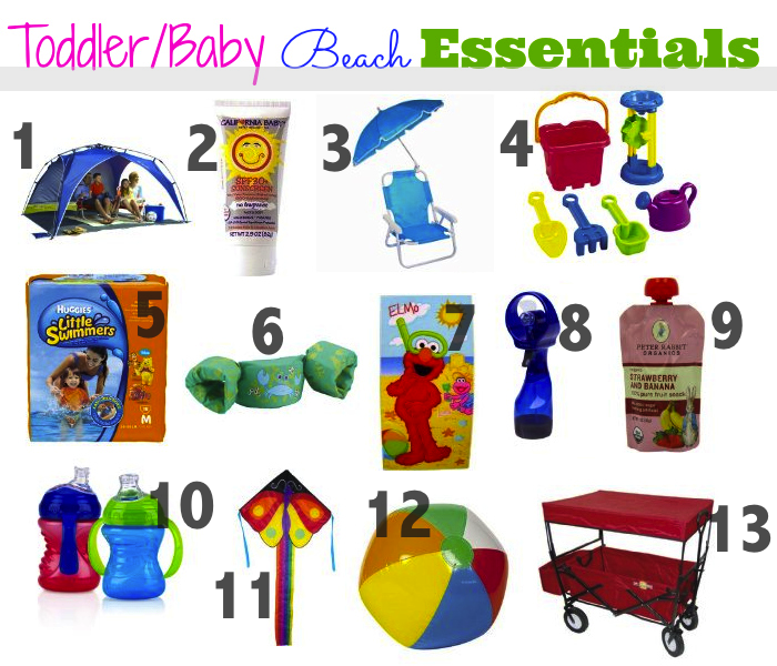 From Mrs To Mama What To Take To The Beach With A Toddler