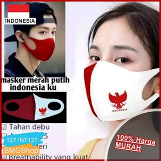 INT127 Masker Kain Scba Merah Putih BMGShop
