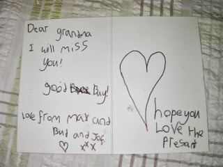 inappropriate greetings card for terminal cancer patient goodbye grandma