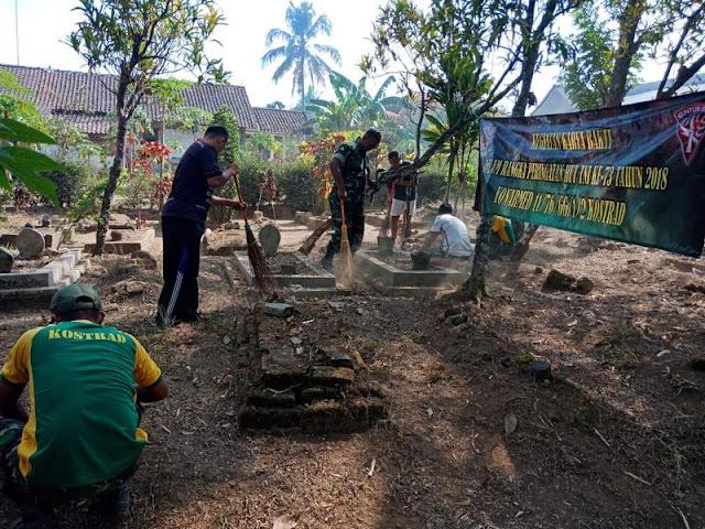 Sambut HUT Ke-73 TNI, Prajurit Yonarmed 11 Kostrad Karya Bhakti di Dusun Sengon Magelang