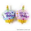 Balon Foil Happy Birthday Cake Mini