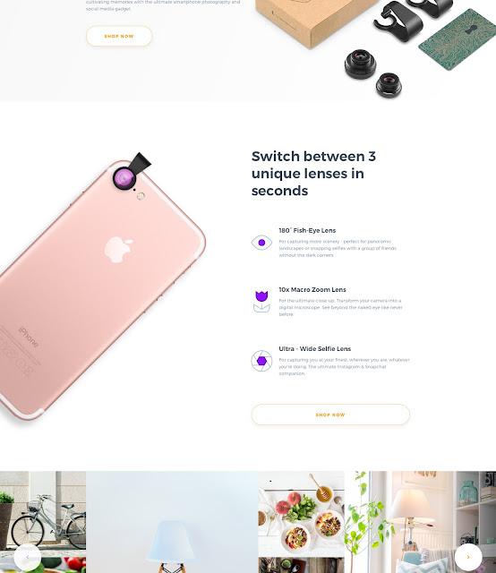 MobileLensHD Landing Page