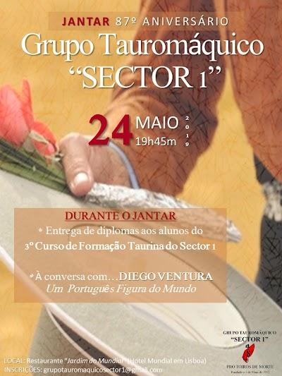 Diego Ventura e o Convidado expecial  do Jantar de Aniversário do SECTOR 1.