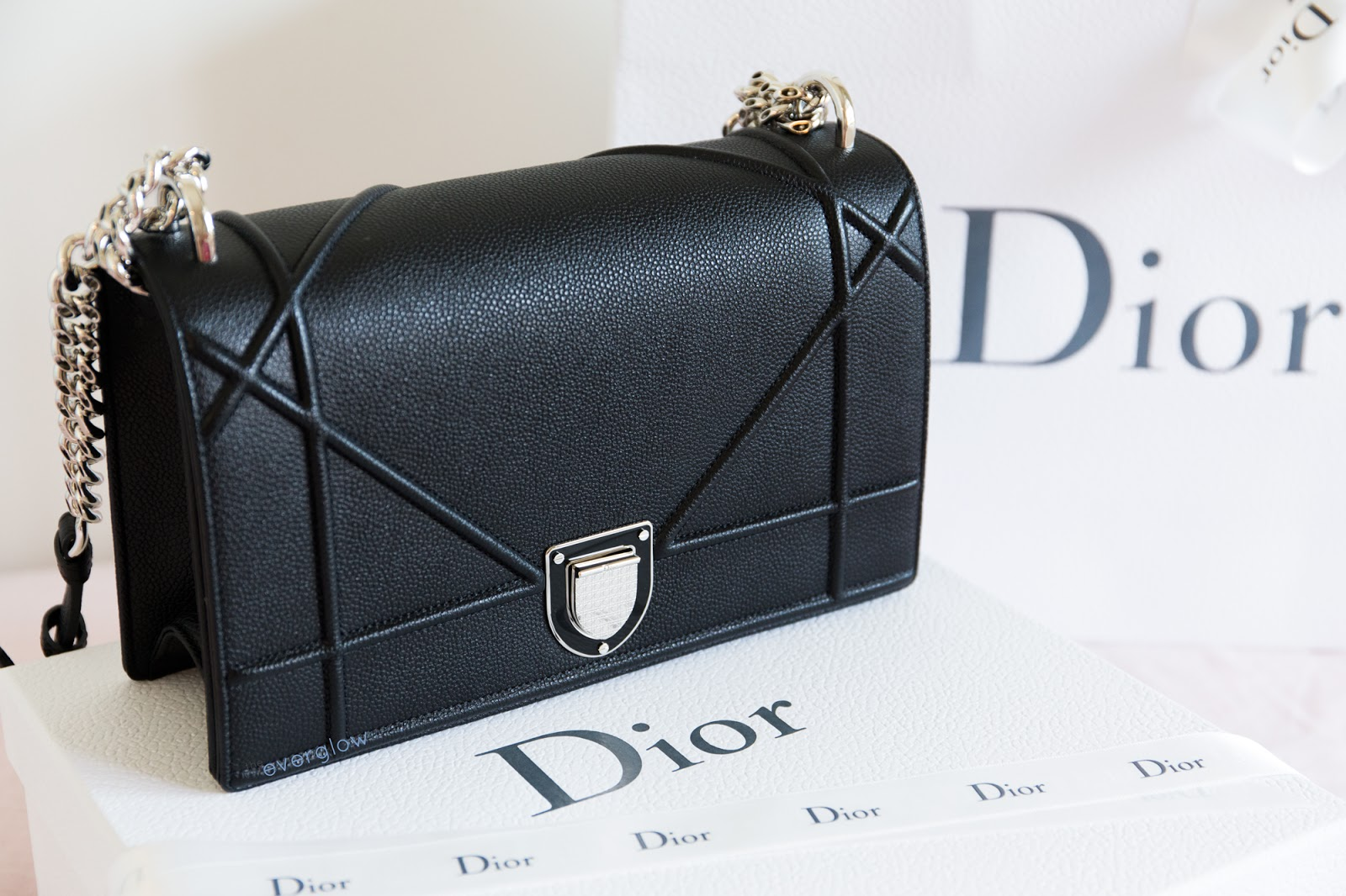 84ac29b40873 Dior Diorama Bag and Lady Dior Patent Wallet Review and Photos