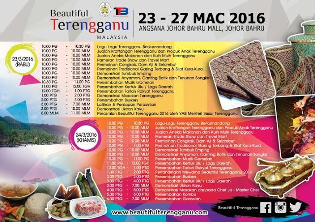 Jadual Beautiful Terengganu