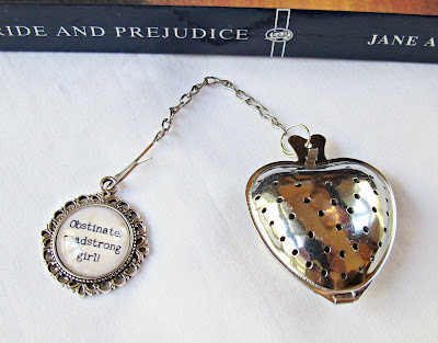 jane austen tea infuser strainer obstinate headstrong girl pride and prejudice quote domum vindemia